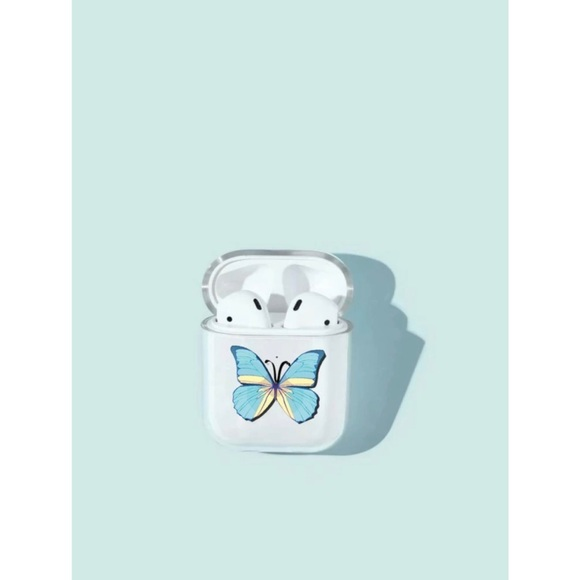 Light Blue Butterfly AirPods Case 🦋